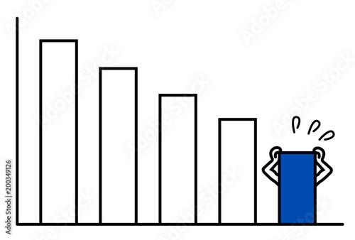 Fotografía  下降型焦る棒グラフ