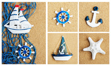 Collage Of Summer Sea Decoration