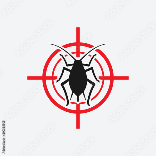 aphid icon red target Canvas Print