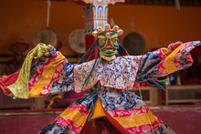 Unidentified Monk In Mask Perf...