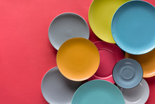 Colorful Plates Composition On...