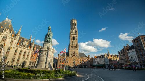 Poster Antwerp Grote Markt or Market square landmark