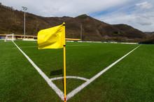 Corner Soccer Flag In A Soccer...