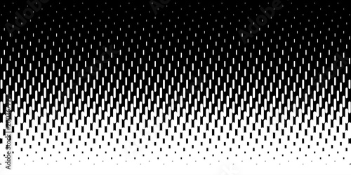 Fotografija  Halftone rounded lines oblique gradient pattern background, Vector illustration