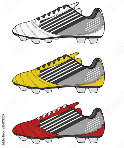 Football Shoes Fashion Flat Technical Drawing Template Buy This