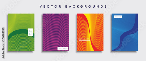 Fototapety, obrazy: Vector cover designs. Future Poster template. Smartphone modern background set.