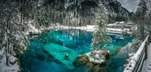 Blausee Im Winter, Kandersteg,...