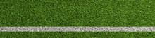 Linie Auf Rasen Vom Fußball S...