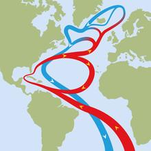 Gulf Stream In Atlantic Ocean....