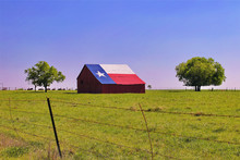 A Barn On A Texas Ranch With T...