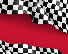 Racing Flag Canvas Realistic R...