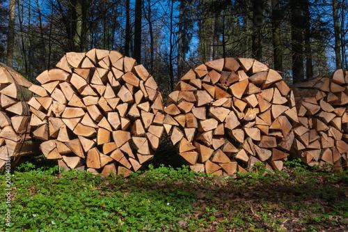 In de dag Brandhout textuur Holzstapel