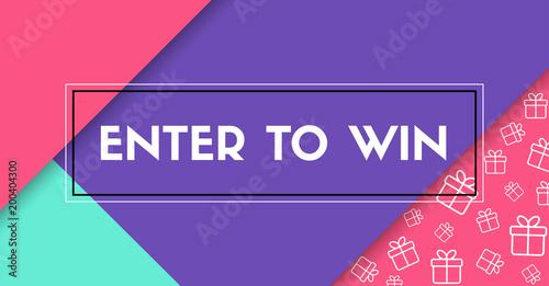 Fotografía  Enter to win. Vector banner with frame
