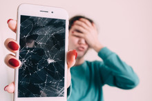 Broken Glass Screen Smartphone...