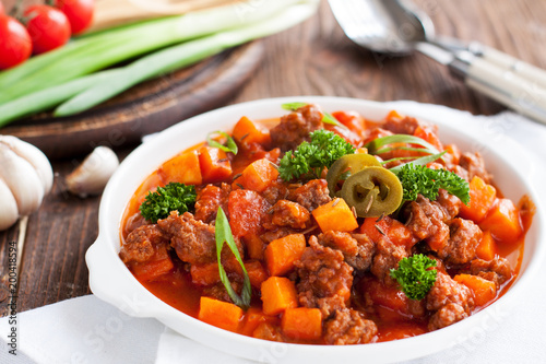 Lamb sweet potato chili