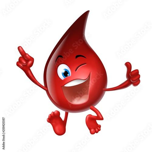 Photo goccia di sangue