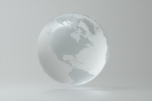 Glass Globe Isolated On White ...