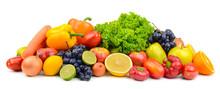 Large Pile Ripe Fruits And Veg...