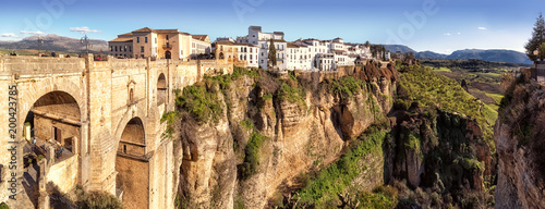 Fotografiet  Puente Nuevo and the Cliffs of El Tajo Gorge, Ronda, Spain