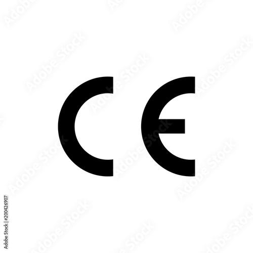 CE mark symbol. European Conformity certification mark. Vector ...