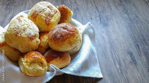 Spoed Foto op Canvas Brood assortment of baked bread