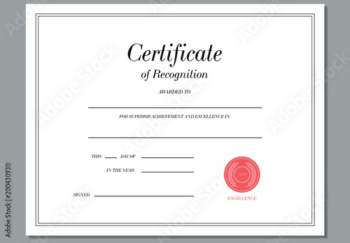 template for recognition award