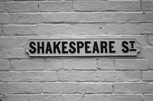 Sheakespeare Street Sign For E...