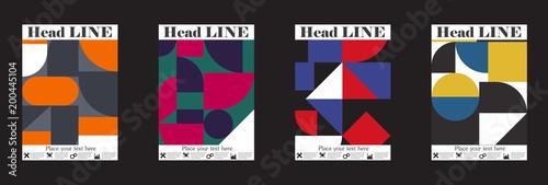 Photo  Retro geometric covers design. Eps10 vector.