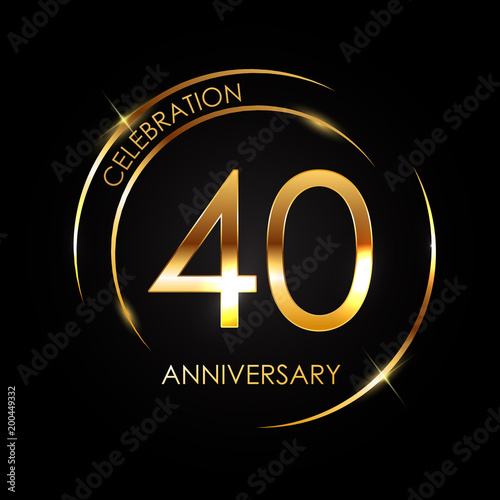 Papel de parede  Template 40 Years Anniversary Vector Illustration