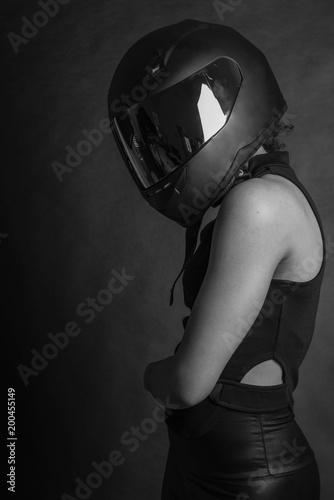Photo  Woman in Helmet