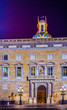 Night view of the Palau de la generalitat on the plaza sant jaume in Barcelona, Spain.