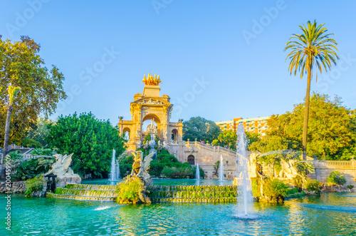 In de dag Barcelona cascada monumental fountain in the ciutadella park Barcelona, Spain.