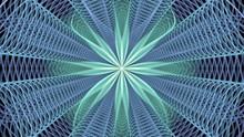 Violet Green Kaleidoscope