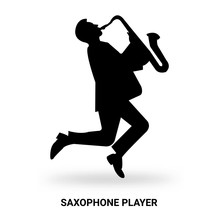 Saxophone Player Silhouette Is...