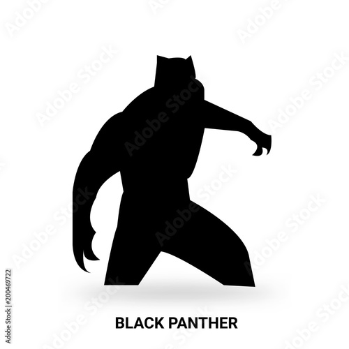 black panther silhouette isolated on white background buy this