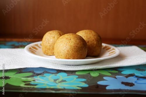 Fotografie, Obraz  laddu Popular  traditional Indian gujarati snack sweet