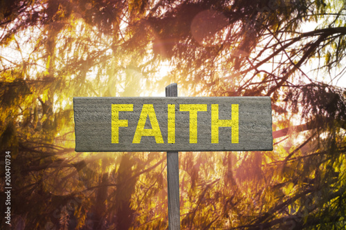 Tablou Canvas Faith Sign