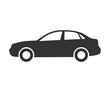 Sedan car icon. Automobile symbol side view. Flat style