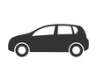 Hatchback car icon. Automobile symbol side view. Flat style