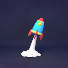 Cartoon Space Rocket Sculpture...