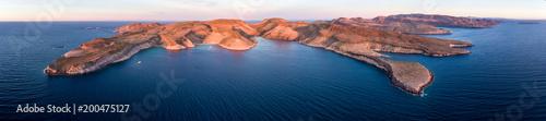 Aerial panoramics from Espiritu Santo Island, Baja California Sur, Mexico Canvas Print