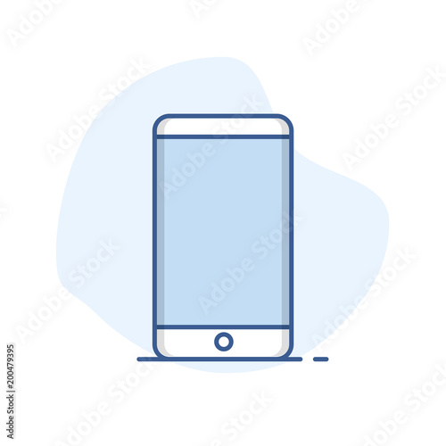 Mobile Phone Line Icon Smartphone Symbol Outline Vector Buy This
