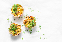 Mini Savory Pie With Chicken, ...