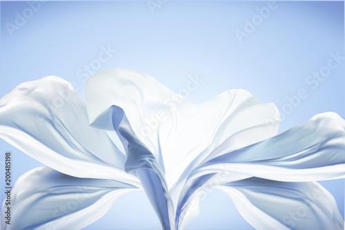 Obraz na plátně  Blue chiffon design