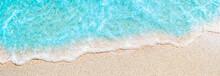 Soft Wave Of Blue Ocean On San...