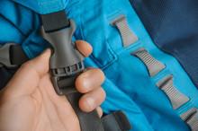 Grey Fastex Buckle Of Trekking Backpack