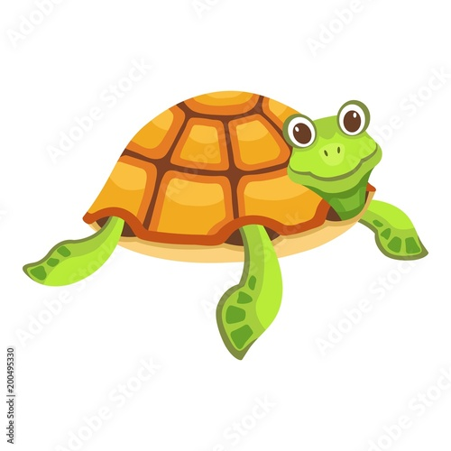 Wall Murals Fairytale World Funny turtle icon. Cartoon illustration of funny turtle vector icon for web