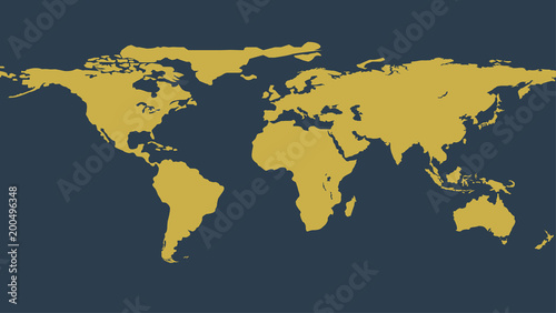 Gold political world map illustration vector flat earth template gold political world map illustration vector flat earth template globe icon element of gumiabroncs Image collections