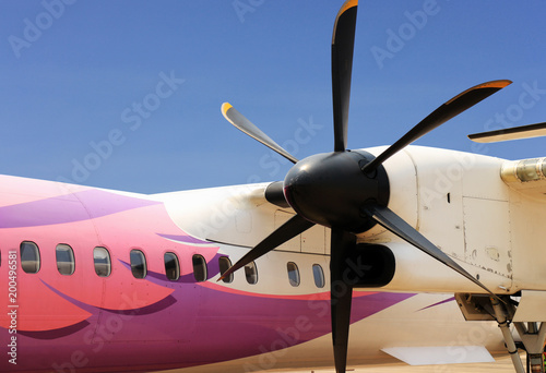 Fotografia, Obraz  Propeller Plane Close Up