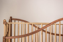 Bed Wooden Railing Isolated